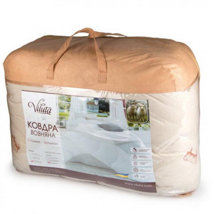 Ковдра полуторна Viluta Premium 140х205 (шерстепон/ранфорс)