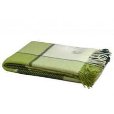 Плед вовняний VLADI Ельф білий/салатовий/зелений #1 140x200