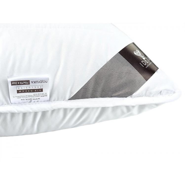 Подушка ІДЕЯ Air Dream Exclusive 70x70 см (силіконізоване поліефірне волокно/поплін)