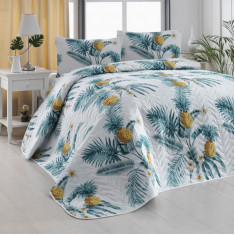 Покривало стебане Eponj Home Custom Ananas Beyaz 160x220